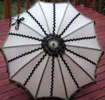 Black Tan Steampunk Parasol by dbvictoria
