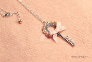 Dream Key vintage style charm necklace by MonLoveMonLove