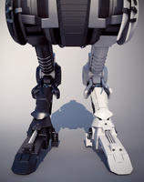 New legs of mech Talos by shiro-gatsu