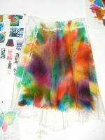 Colour splattered skirt by rainbow24