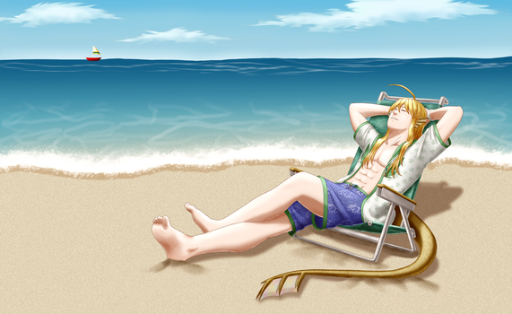 AB: Lounging by the sea by Daidairo