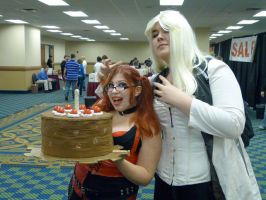 Harley and GLADoS by LolitaLibrarian