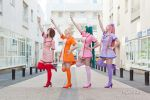 Sentai pose!!! - Love Colored Wards by Sweet-Empathy