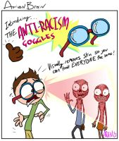 arien brain: anti racism goggles by therealarien