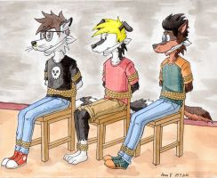 Jake, Sean and Troy by NuudeliPannu