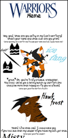 old warrior cats meme by AwkwardWox