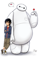 Hiro and Baymax by Graya7