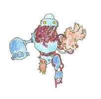 Crystal Golem Colored by Rayleighev