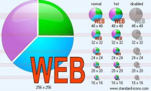 Web statistics Icon by standard-admin-icons