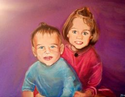 Siblings Portrait by Marybriannemckay