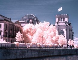 Reichstag Berlin infrared by MichiLauke