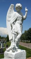 Mount Olivet Cemetery Archangel Michael 281 by Falln-Stock