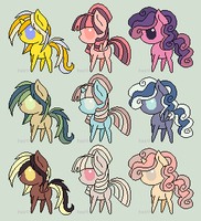 Chibi Ponies Adopt 2 by perfectnesspony