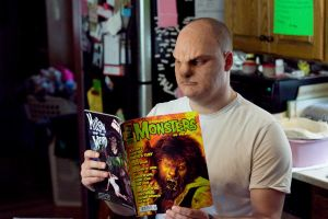 My wolfman reading Famous Monsters by Quegebo