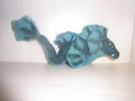 Needle felted sea serpent plushie by ArcticIceWolf