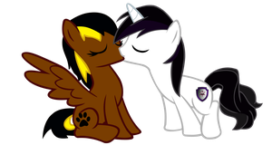 Vector Barrfind kissing Luna by Barrfind