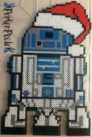 Santa Hat R2 D2 by PerlerPixie
