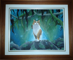 Painting of my cat: oil paint by BloomMind