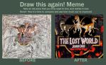 The Lost World JP Old n New (Draw This Again Meme) by TrefRex