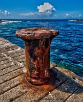 Rusted bollard by forgottenson1