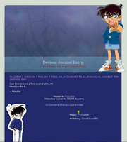 Free Detective Conan Journal Skin by pharlyn