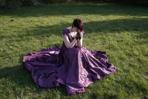 Grape Dress 7 Praying by Noirin-Stock
