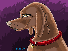 MSPaint DOG by FrostLine1448