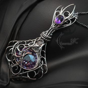 ARCHTIARIUS - Silver, Purple Zirconia and Amethyst by LUNARIEEN