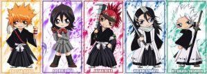 Bleach chibis by twinklee