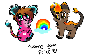 Adoptables! [name your price] by Punk-Mutt