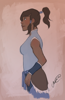 Korra by gingerbreadcat