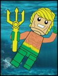 Lego aquaman: King of the Seas! colored by samayoa