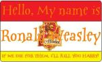 Ronald Weasley's Nametag by HuntressxTimeLady