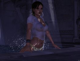 lara croft out of pool 2 by 7ipper