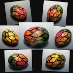 Watercolor Spring Egg View from all sides by MandarinMoon