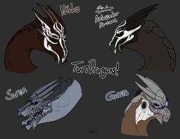 Turian Dragons by LuseyMoth