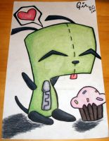 Gir with Cupcake by Breezy17