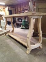 Console Table In Reclaimed Cypress and Spruce WIP by WaterwalkerWoodworks