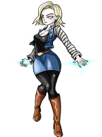 Android 18 by TheBombDiggity666