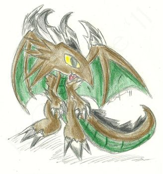Baby Earth Dragon by CobaltWolfSirius