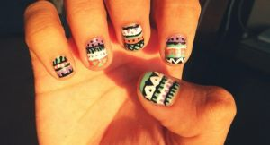 Tribal Nails (Right) by inginging