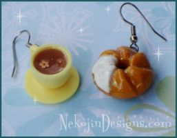 coffe and donuts by nekojindesigns