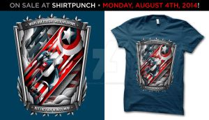 Star Spangled Man at ShirtPunch by shokxone-studios