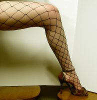 Leg - Fishnet Stock10 by D-is-for-Duck