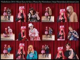 Nadeshicon 2014: Moon Kana with fans 1 by Henrickson