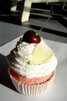 Real Fake Lime Cupcake by MotherMayIjewelry