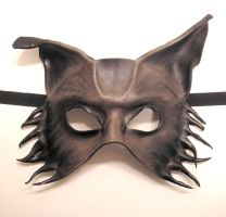 Gnarly Old Wolf Leather Mask by teonova