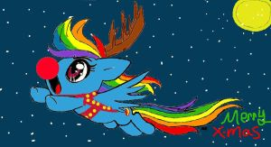mlp fim cristmas time rainbow dash by facebook829