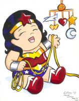 Baby Wonder Woman by ChibiCelina