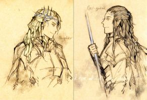 Oropher+Gil-galad by vampiry